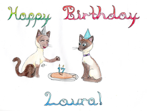 Happy Birthday Laura! :D by Herikayela