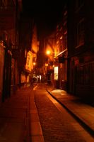 Shambles at Night, York UK by FoxStox
