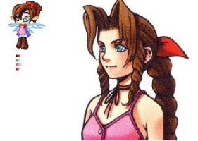 Aerith is the Tooth Fairy o-o by evilretasuchan