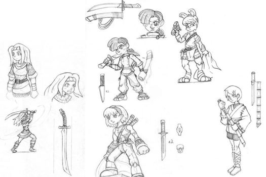 Sketches 2012-15 part a by TonberryKingIV