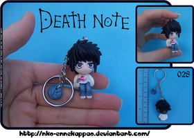 Death Note - Chibi L Keychain by Nko-ennekappao