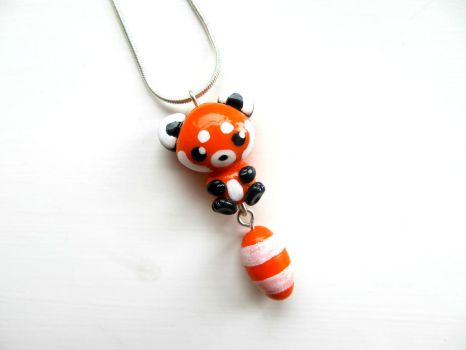 Red Panda Necklace by DapperLittleMagpie