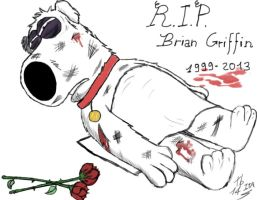 .:Brian Griffin R.I.P.:. by Theboss14ITA
