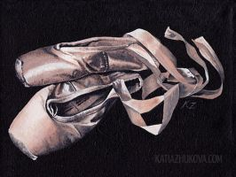 Pointe Shoes by KatiaZhukova