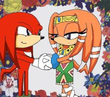 Tikal and Knuckles by Oribella