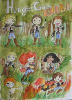 HUNGER GAMES CHIBI by AlidaMorris