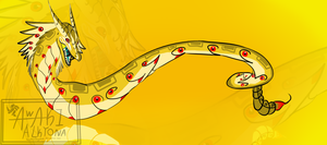Golden cobra serpent adopt - CLOSED by NoctaAlkyona