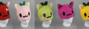 Fruit Kitty Hats by SewDesuNe