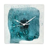 painted and fused glass wall clocks by radovanrajic