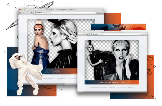 Pack Png 966 // Lady Gaga. by ExoticPngs
