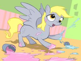 Hoof Paining Derpy by Bering