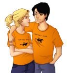 Percy and Annabeth by realgoodpizza