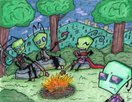 By the Campfire by InvdrDana