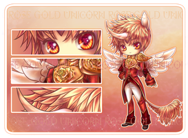 Adopt Auction: Rose Gold Unicorn Prince [Closed] by furesiya