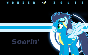 Wonderbolts Wallpaper - Soarin' by l13000