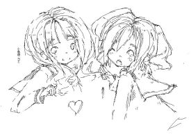 mato and yomi paint doodle by MujiPen