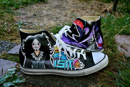 Custom Shoes - Savant by hipstergalaxyswag