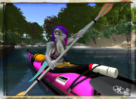 Jayce Camping Kayaking - Second Life by Jace-Lethecus