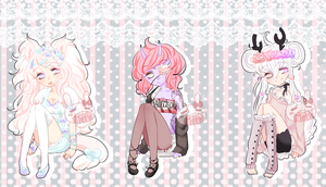 oh no KAWAII Adopts  -closed- by PastelBits