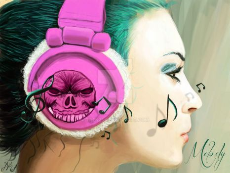 Melody with Headphones by Trek25
