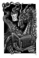 Dragon Bookplate by Cailey5586
