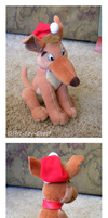 Charlie Barkin Christmas Plush by The-Toy-Chest