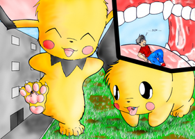 rampaging pichu brothers by saber-th