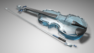 Blue Violin by Valadj
