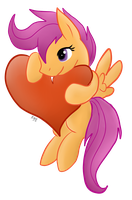 Scootaloo x3 by CKittyKat98