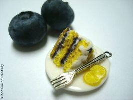 Blueberry lemon cake by WithaTouchofFantasy
