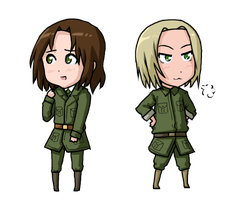 Toris and Feliks Chibis by taximals