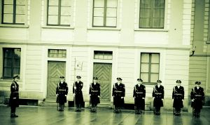 Soldiers Line Up by 4ir4o