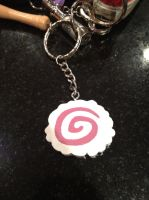 Handmade Narutomaki Key Chain by madster865