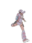 gwenpool wip by wyldcam