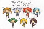CLOSED 1 point adoptables by kittystar123