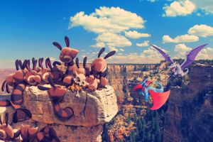 All those wild pokemon in Grand Canyon by Ninja-Jamal