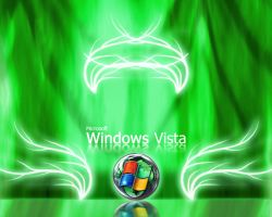 Microsoft Windows Green Vista by klen70