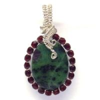 Ruby in Zoisite Pendant by Gailavira