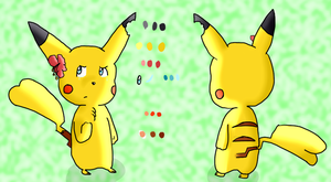 noelia in pikachu form (reference) by TailTehEeveelution