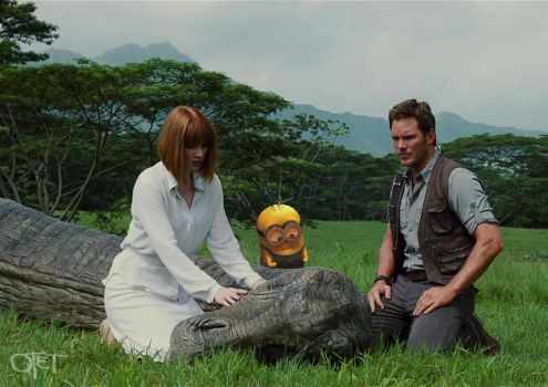 Minion in 'Jurassic World' by otettttt