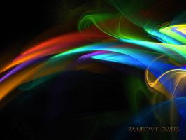 Rainbow Flowers - WP - No.2 by denise-g