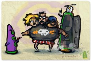 Use Verb on Noun #5 - Day of the Tentacle by bigjko