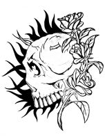 Skull and Roses by andy023