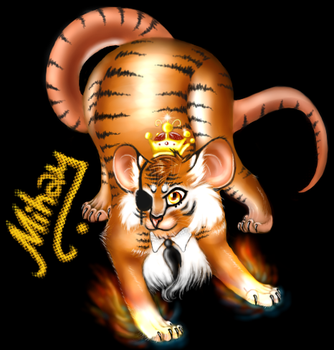 Tiger mouse by Narufirefox