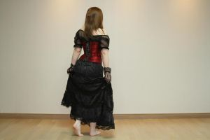Red Corset stock 22 by Little-Ms-Spooky