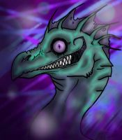 Grinning Dragon of Creeperness by RoomsInTheWalls