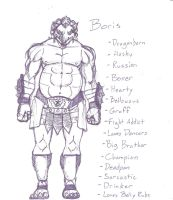 Pen Sketch: Boris by Faybos