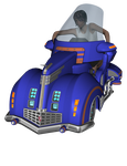 Futuristic Bike Car and Female PNG Stock by BeccaB-323-STOCK