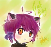 Chibi cat boy by vmxk