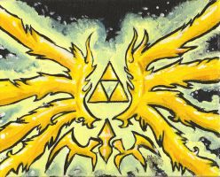 TRIFORCE -Acrylics- mostly.... by Randanopterix